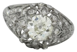 Other Ladies Antique Art Deco 1.73 Diamond Platinum Engagement Accents Ring