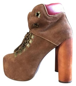 Jeffrey Campbell Brown Suede Boots