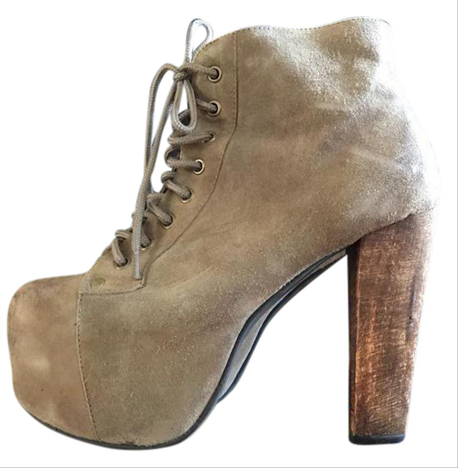 jeffrey campbell taupe suede lita boots booties size us 7 regular m b tradesy. Black Bedroom Furniture Sets. Home Design Ideas