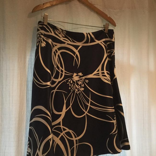 Ann Taylor Skirt blue with white print