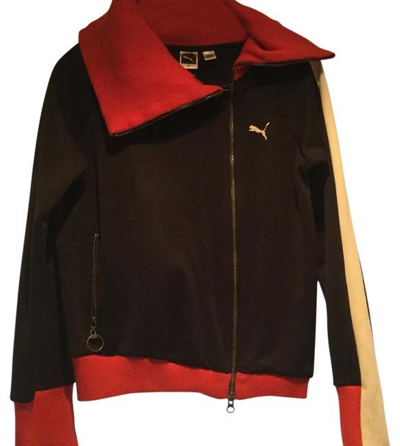Item - Black with Cream and Red Track Activewear Outerwear Size 10 (M)