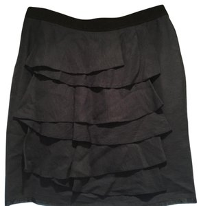BCBGMAXAZRIA Skirt blue skirt with black band at waist