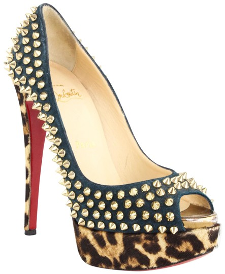 Preload https://img-static.tradesy.com/item/20607251/christian-louboutin-dark-green-and-leopard-lady-peep-spiked-calf-hair-suede-pumps-size-eu-365-approx-0-3-540-540.jpg