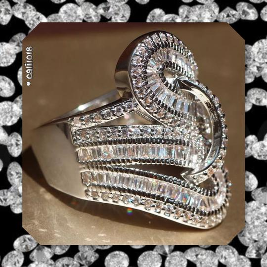 Other New Stunning White Gold Filled Cocktail Ring