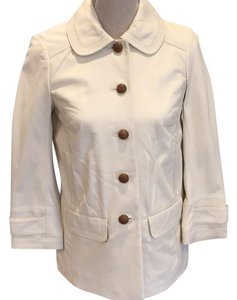Tory Burch cream Leather Jacket