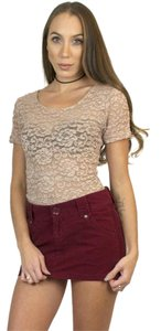Other Lace Vintage 80s Lace T Shirt Pink