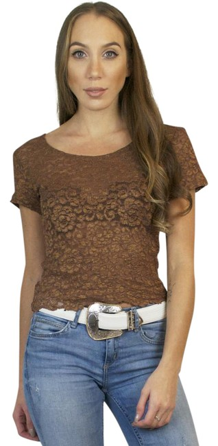 Preload https://img-static.tradesy.com/item/20607433/bronze-vintage-80s-lace-sleeve-tee-shirt-size-4-s-0-1-650-650.jpg