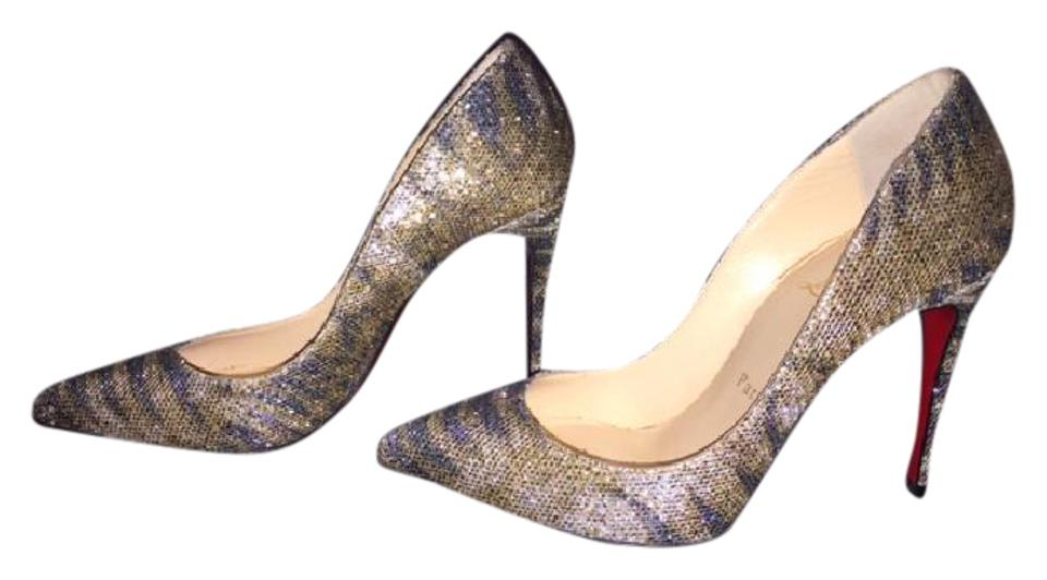 Silver Glitter Christian Pumps Louboutin Pigalle Sirene RwwFSZx6q