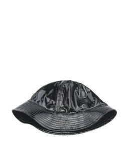 Chanel Chanel Black Vinyl Bucket Hat, Size 58 (113101)
