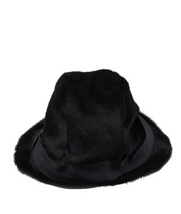 Gucci Gucci Black Pony Hair Hat, Size Large (39835)