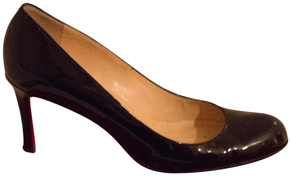 7f57f921bf1 Christian Louboutin Black Simple 85 Patent Leather Pumps Size EU 35.5  (Approx. US 5.5) Regular (M, B) 54% off retail