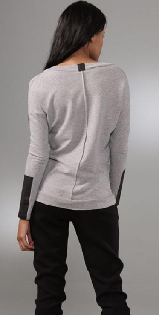 Corson W/Leather Scop Neck With Leather Sweater