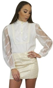 Other 70s Lace Victorian Long Sleeve Vintage Top Ivory