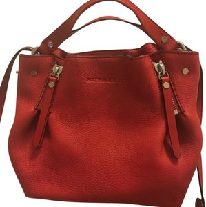 Burberry calfskin small Maidstone satchel Satchel in Military Red