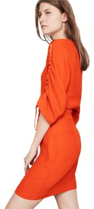 Maje short dress orange red Party Tunic Parisian Chic Cocktail on Tradesy