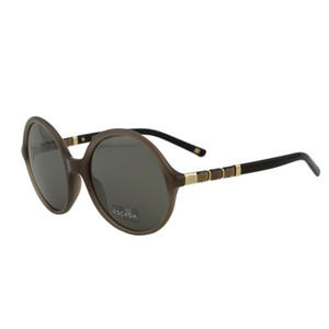 Escada NEW ESCADA SES 399 Women Brown Embellished Oversized Round Sunglasses