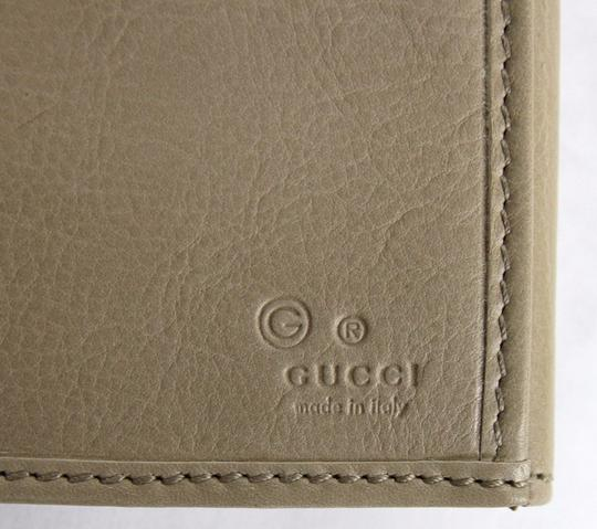 Gucci New Gucci Beige Signoria Leather Clutch Continental Wallet 231837 2609