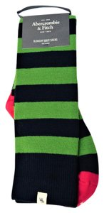 Abercrombie & Fitch Wool Blend Stripes Slouchy Boot Socks