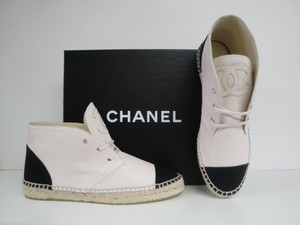 Chanel Espadrille Sneakers Brand New Light Beige/Black Flats