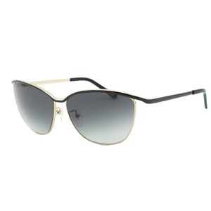 Escada NEW ESCADA SES 858 Black & Gold Metal Cat-Eye Sunglasses