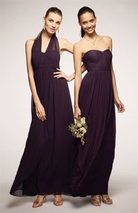 Jenny Yoo Plum Aidan Convertible Strapless Gown Dress