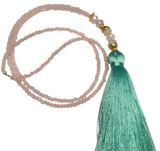 Preload https://img-static.tradesy.com/item/20607764/pink-and-aqua-green-boho-chic-necklace-0-1-540-540.jpg