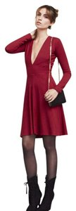 Reformation Date Night Night Out Valentines Day V Neck Dress