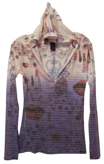 Preload https://img-static.tradesy.com/item/20607934/custo-barcelona-purple-pink-red-off-white-lips-lipstick-lady-luck-silky-hoodie-knit-approx-s-blouse-0-2-650-650.jpg
