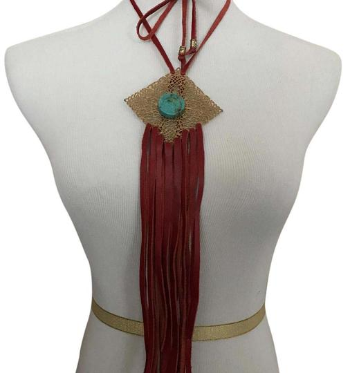 Preload https://img-static.tradesy.com/item/20607980/red-boho-chic-necklace-0-1-540-540.jpg