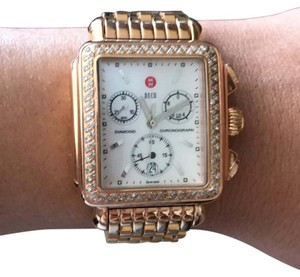 Michele Michele Signature Deco Rose Gold Watch