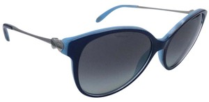 Tiffany & Co. Classic Heart Blue Butterfly Round Sunglasses w/ Gradient Lens TF 4127