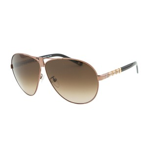 Escada ESCADA SES 889 Bronze Swarovski Embellished Metal Aviator Sunglasses