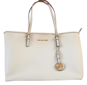 Michael Kors Gold Hardware Tote in White