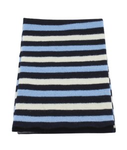 Burberry Burberry Blue Stripped Multicolor Lambswool Scarf (113108)