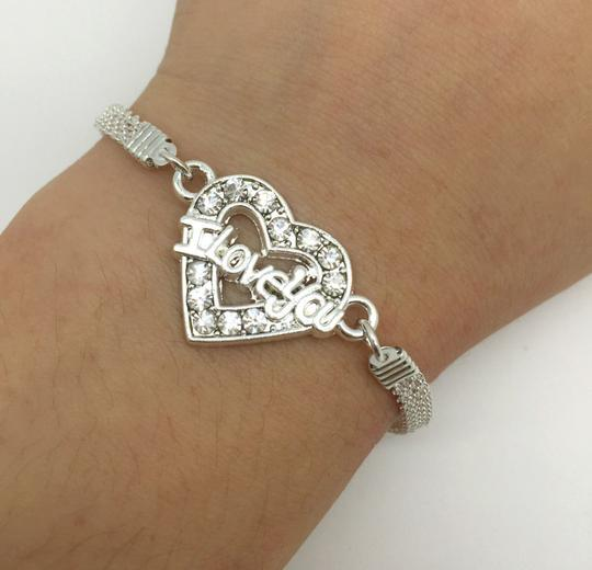 Preload https://img-static.tradesy.com/item/20608169/silver-bogo-i-love-you-rhinestone-free-shipping-bracelet-0-0-540-540.jpg