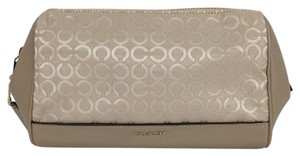 Coach Coach Op Art Pearlescent Natural Medium Cosmetic Pouch Make Up Case