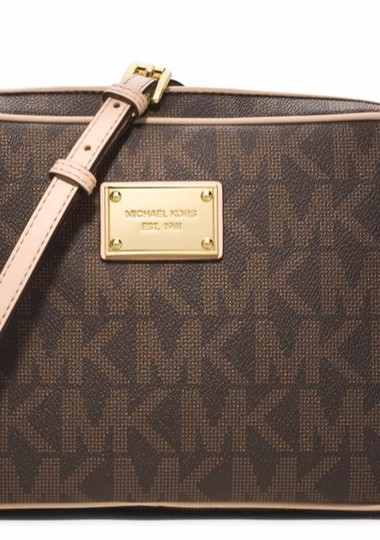Michael Kors Jet Set Floral Perforated Cross Body Bag