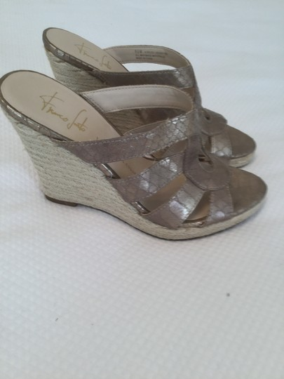 Franco Sarto Gold Wedges