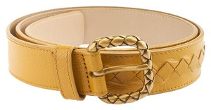 Bottega Veneta Bottega Veneta Yellow Leather Belt, Size 85/34 (46713)