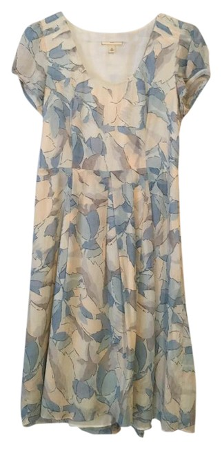 Preload https://img-static.tradesy.com/item/20608341/moulinette-soeurs-taupe-blue-floral-watercolor-leaf-chiffon-mid-length-short-casual-dress-size-6-s-0-2-650-650.jpg