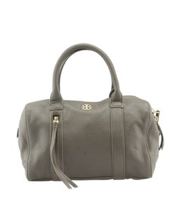 Tory Burch Tb Pebbled Satchel in Grey