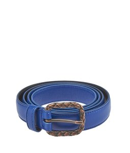 Bottega Veneta Bottega Veneta Blue Leather Belt, Size 85/34 (46712)