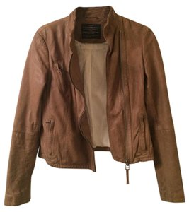 AllSaints Tan Leather Jacket