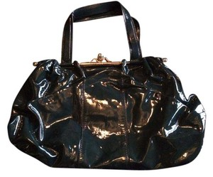 Roberto Cavalli Patent Leather Tote in Blue-Green
