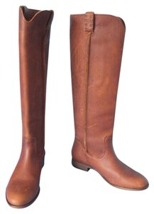 Frye Leather Riding Stone-washed Oiled Vintage Look Brown Boots