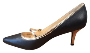Cole Haan Heels High Heel black with gold trim Pumps