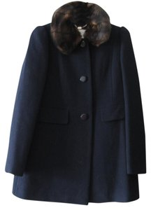 Kate Spade Navy 100% Wool Classic Coat