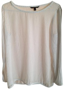 Banana Republic Eyelet Summer Spring Formal Work Top White