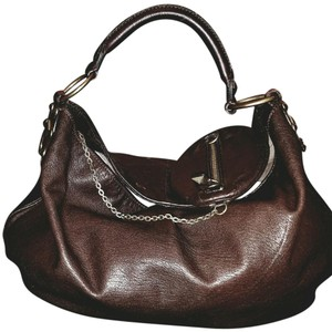 Ellen Tracy Satchel in Rich Chocolate Brown