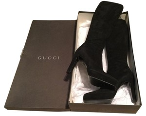 Gucci Runway Tom Ford Platform Black Boots